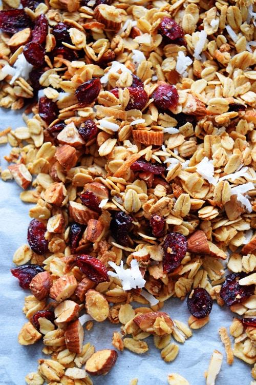 cranberry coconut cashew granola snack